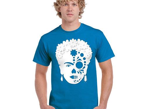 Frida-Skull T-shirt BLUE