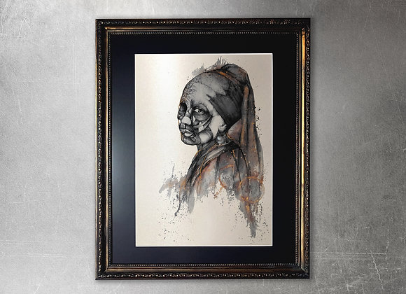 Luxuria limited edition A2 framed gold print