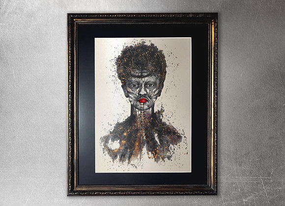 Tristitia limited edition A2 framed gold print