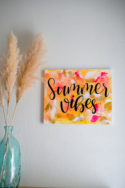 """Toile """"Summer Vibes"""""""