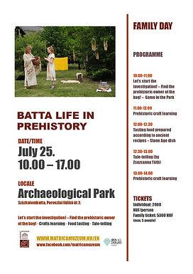 BATTA LIFE IN PREHISTORY - FAMILY DAY IN SZAZHALOMBATTA
