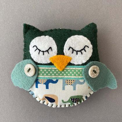 Green Owl Decoration