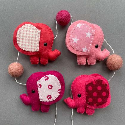 Pink Elephant Garland