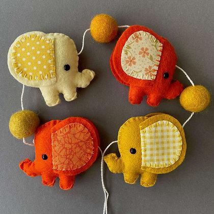 Yellow and Orange Elephant Garland