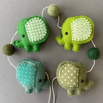 Green Elephant Garland