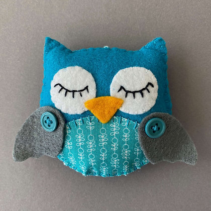 Blue and Grey Owl Decoration