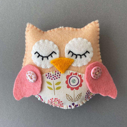 Peach and Pink Owl Decoration