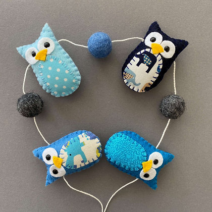 Blue Owl Garland
