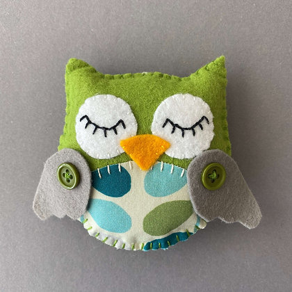 Green Owl Decoration