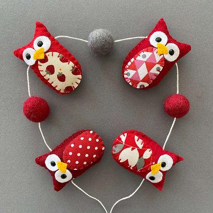 Red Owl Garland