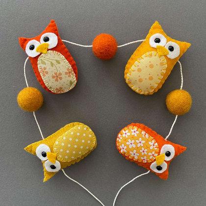 Orange and Yellow Owl Garland