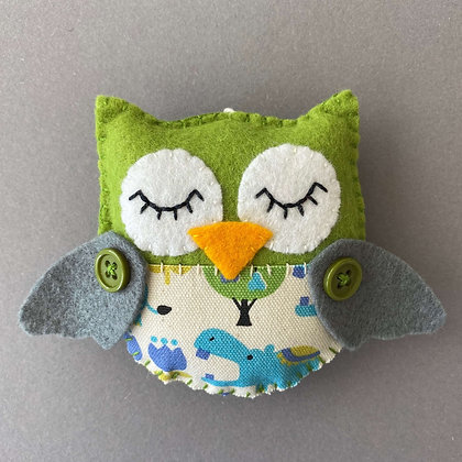 Green and Grey Owl Decoration