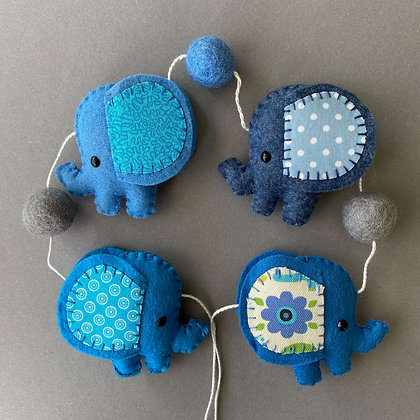 Blue Elephant Garland