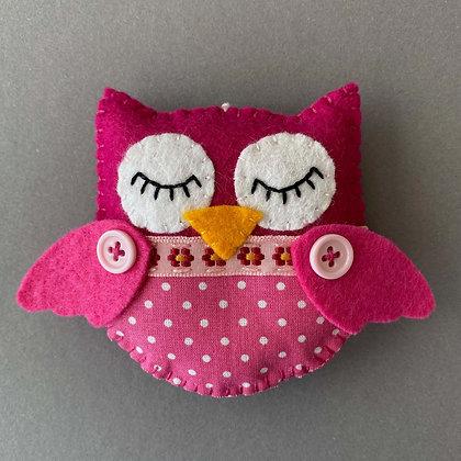 Pink Owl Decoration