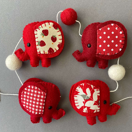 Red Elephant Garland