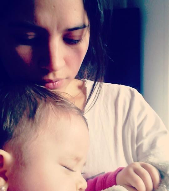 holding my sleeping niece, sara