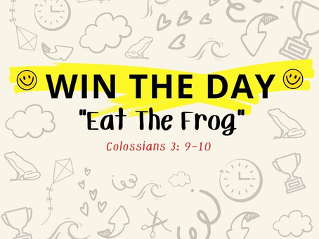 Habit 3: Eat The Frog