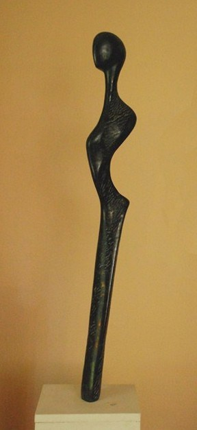 3. Mavri Morphe  2008-9 Diabas-Stein ca. 110 x 18 cm
