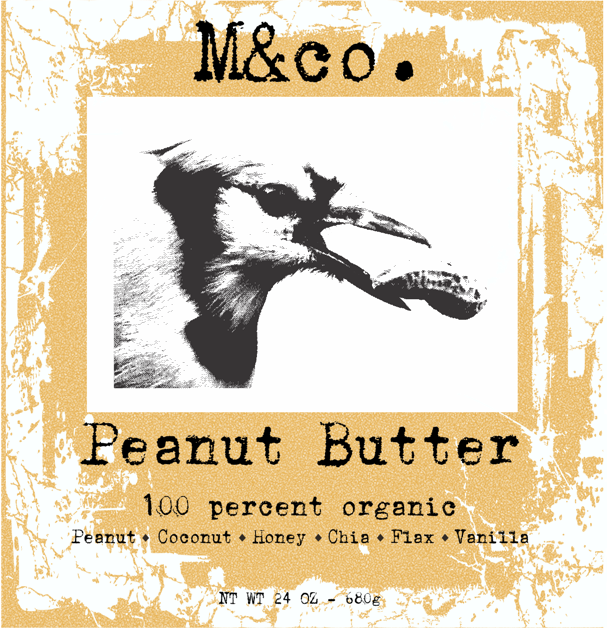 Organic Peanut Butter Label
