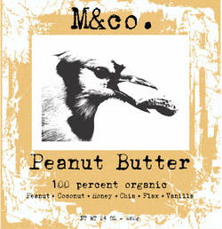 Organic Peanut Butter Label