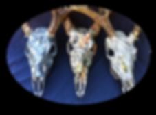 Camo dipped deer skulls