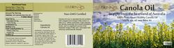 Canola Oil Label