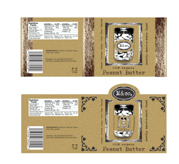 Organic Peanut Butter Label - 2