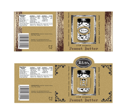Organic Peanut Butter Label - 2