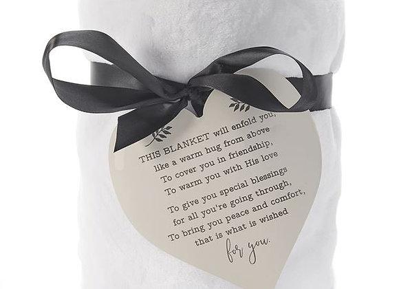 Blanket w/Heart Sentiment