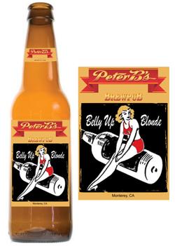 Belly Up Blonde Beer Label