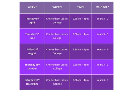 2021 Netball Workshop Dates