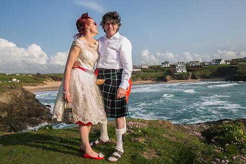 Metropole Hotel wedding venue, Padstow, Cornwall, seaside wedding, YHA Treyarnon