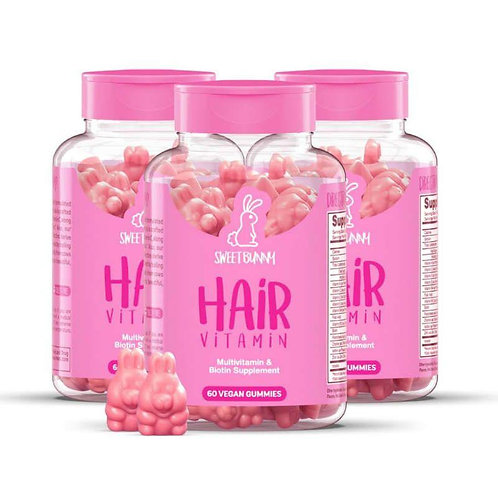 Sweet Bunny Hairvitamins 3x 60st.