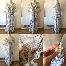 70s VINTAGE CAPELET DRESS