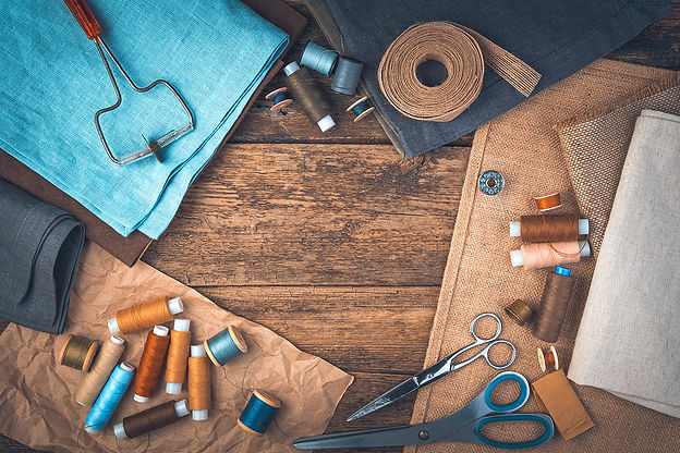 set-sewing-accessories-wooden-background