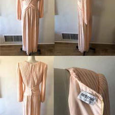 80s NORDSTROM GALLERY PLEATED DRESS