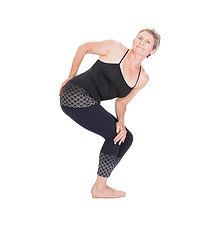 yoga asana - rotated chair