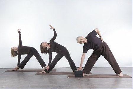 yoga - three variations of triangle