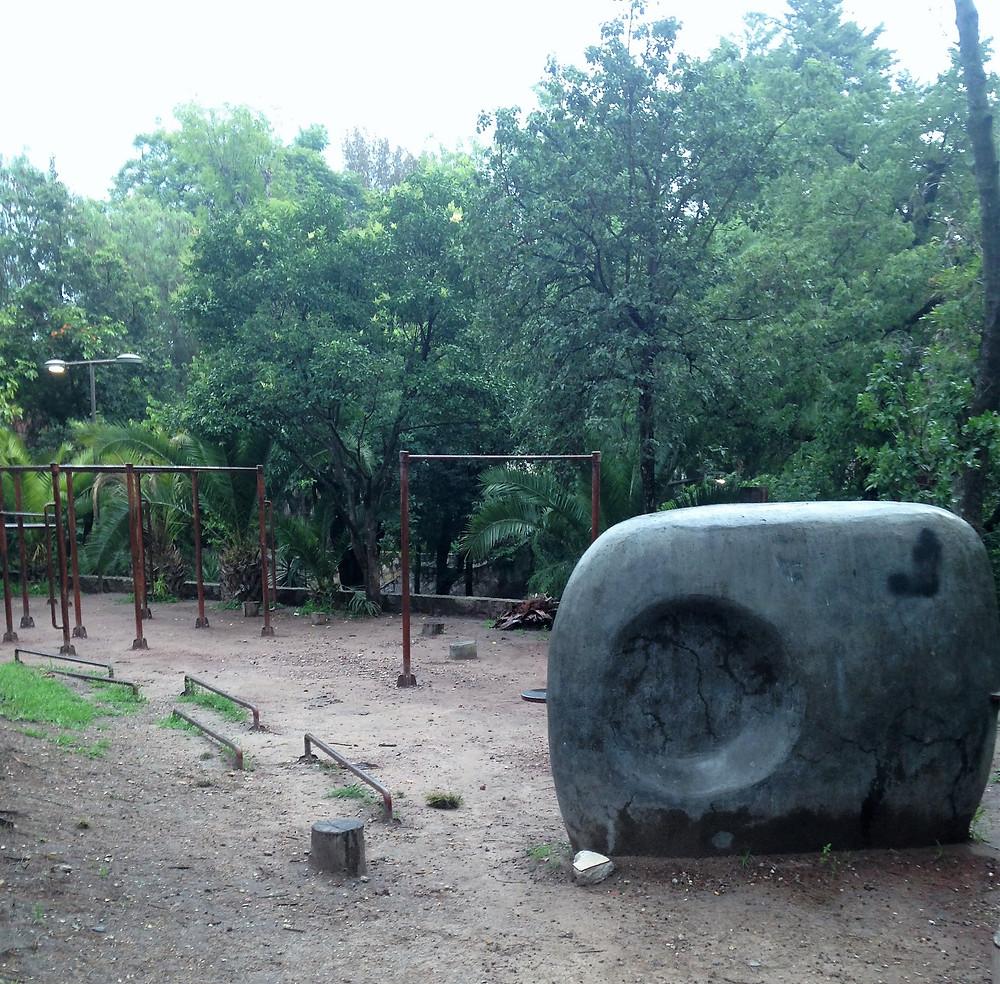 Parkour course at Parque Juarez, San Miguel de Allende