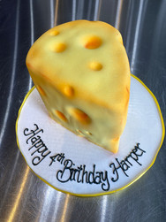 Mouse House Cheese Birthday Cake
