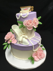 Elegant Tea Party Birthday Cake