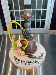 Hookah Pipe Birthday Cake