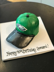 Eagles Cap Birthday Cake