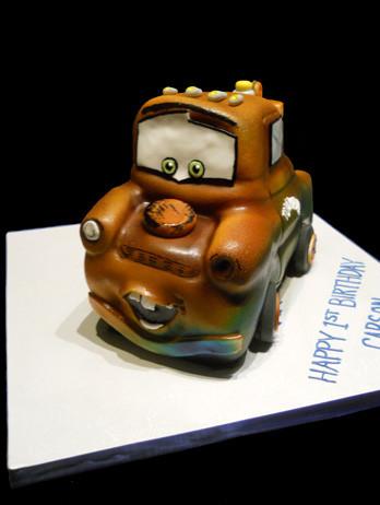 Tow-Mater Cars Birthday Cake