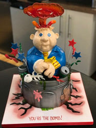 Garbage Pail Kids Groom's Cake