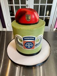 Airborne Beret Birthday Cake