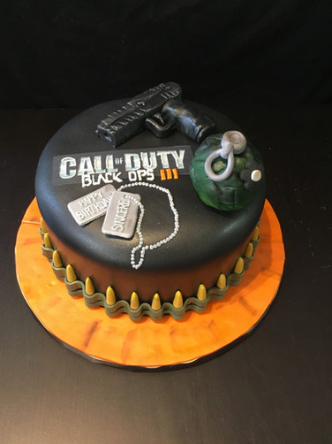 Call of Duty Birthday Cake