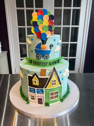 """Up"" Baby Shower Cake"