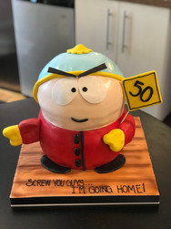Cartman from South Park Birthday Cake