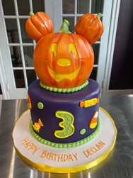 Pumpkin Mickey Mouse Birthday Cake